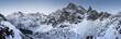 Leinwanddruck Bild - Winter mountains landscape