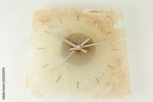 Close-up of vintage analogic dirty clock Wallpaper Mural