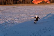 High Speed Landing On The Snow...