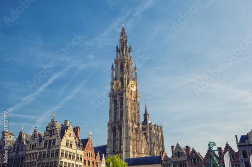 In de dag Antwerpen Cathedral of Our Lady, Antwerp, Belgium