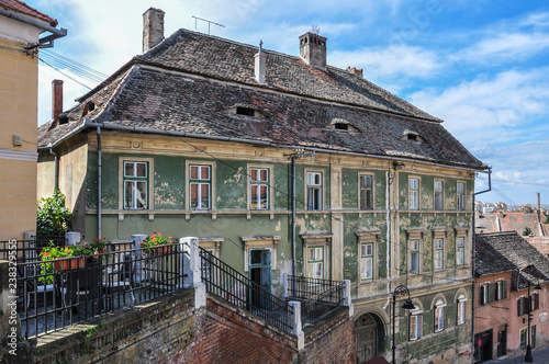 "Fotografia  Sibiu old wayside ""Zur Ungarische Krone"" - Romania Transylvania"