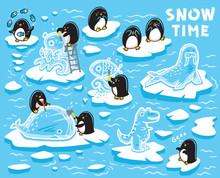 Cute Little Penguins Creates I...