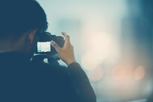 Camera With Bokeh Background, Videographer