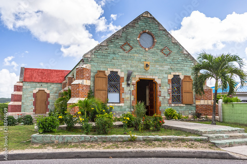 St. Barnabas Anglican Church at Antigua, West Indies Canvas Print