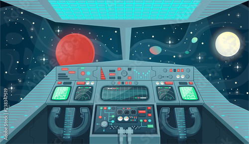Fotografia Background for games and mobile applications spaceship
