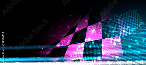 Cuadros en Lienzo Racing speed background, vector illustration abstraction in car track