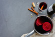 Mulled wine background for recipe concept