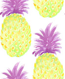 Pineapples seamless pattern - 238357343