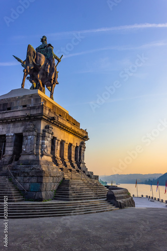 Carta da parati View on river moselle and river rhine from monument of Kaiser Wilhelm I (Emperor