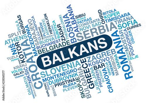 Photo Balkans Word Collage