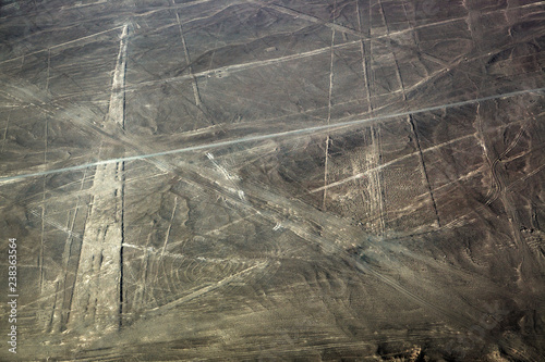 Foto op Aluminium Zuid-Amerika land view from plane on lines plateau Nazca