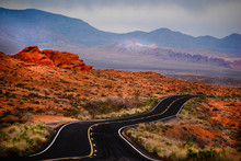 Winding Road In Valley Of Fire