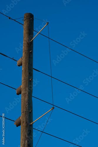 Fotografie, Obraz  electric pole