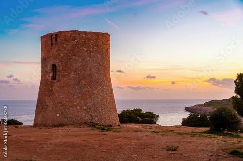 sunset in cala Pi, mallorca, balearic islands, spain