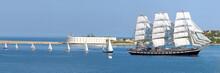 A Procession Of Sailboats