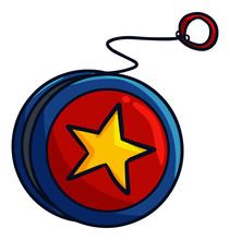 Cool And Cute Red Blue Yoyo Wi...