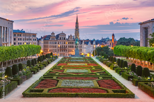 Brussels at sunset, Brussels, Belgium
