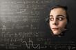ragazzino terrorizzato dalla matematica