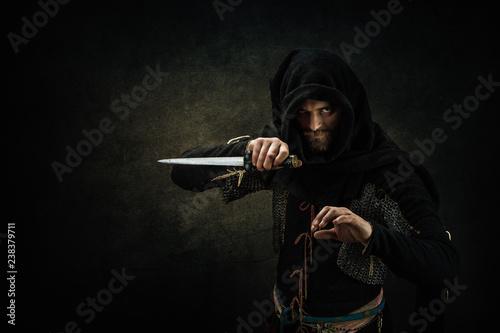 Obraz Portrait of a medieval assassin - fototapety do salonu