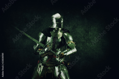 Portrait of a knight in armor Fototapeta