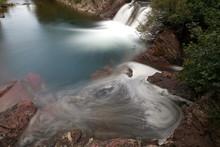 Red Rock Falls At Many Glacier...
