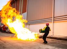 Fireman Training Officer Using...