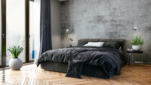 3d render of beautiful bedroom interior