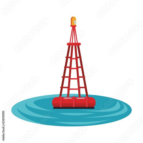buoy sea icon Canvas Print