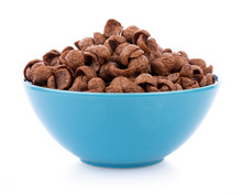 Chocolate Cereals In Bowl On W...