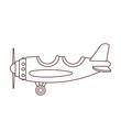 airplane flying cartoon
