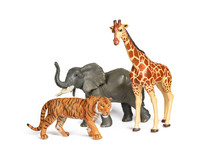 Pastic Wild African Animal Toy...