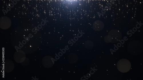 Fotografie, Obraz  Glamorous golden particles on a black background