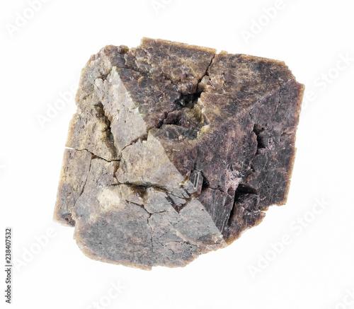 Fotografia, Obraz rough zircon crystal stone on white