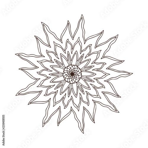 Fire Flower Mandala Tattoo Art Design Carpet Ornament Pattern