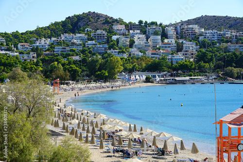 Vouliagmeni, beautiful seaside town near Athens Canvas Print