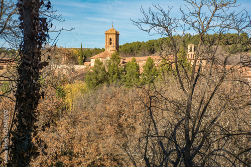 Fotografia  The Stone Monastery in the province of Zaragoza is built in the transition from