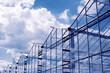 Leinwanddruck Bild - greenhouse in Hungary and summer sky