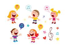 Group Of Kids Singing Music Ed...