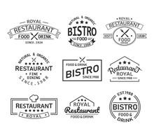Restaurant And Cafe Retro Logo...