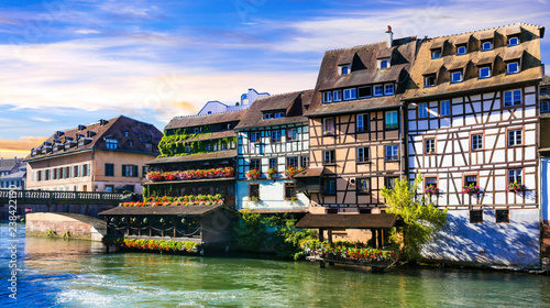Beautiful romantic old town of Strasbourg -