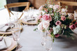 canvas print picture - Beautiful decoration fo the wedding table.