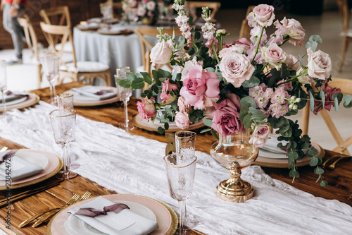 Beautiful decoration fo the wedding table. Fototapete