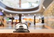 Vintage hotel reception service desk bell.