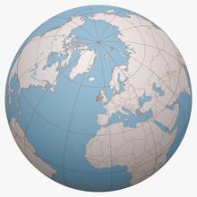 Ireland On The Globe. Earth He...