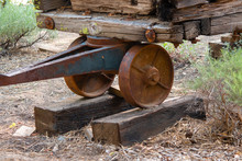 Logging Cart Wheel