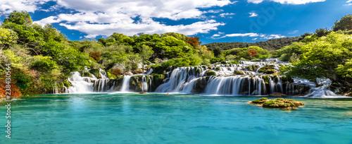 Foto op Canvas Watervallen Cascada Paradisiaca