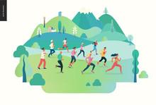 Marathon Race Group - Flat Mod...