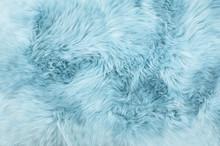Sheep Fur Blue Colored Sheepsk...