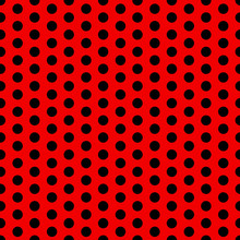 Seamless Vector Polka Dot Pattern Black And Red. Design For Wallpaper, Fabric, Textile, Wrapping. Simple Background