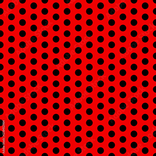 Seamless Vector Polka Dot Pattern Black And Red Design For